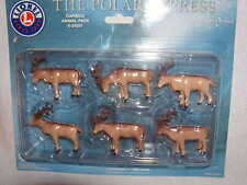 Lionel 6-24251 The Polar Express Caribou Animal Pack MIB New 6 Pieces O 027