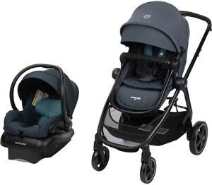 Maxi-Cosi Zelia2 Travel System Stroller w Mico 30 Infant Car Seat Northern Grey