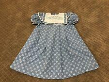Vintage toddler girls blue dress size 4T