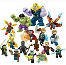 16pcs Marvel Super Heroes Lego Avengers Infinity War Mini Figures Man Hulk Set