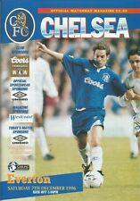 Football Programme - Chelsea v Everton - Premiership - 7/12/1996