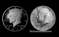 2017 S+S Kennedy Half Dollar Set ~ Clad Proof and Enhanced from Mint Set