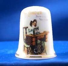 Birchcroft Thimble -- Vintage Advertising --- Singer Sewing  -- Free Dome Box