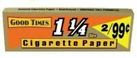 "Good Times 1 1/4"" 1.25 Rolling Papers 10 PACKS Cigarette Tobacco 240 Leaves"