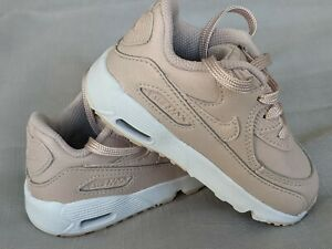 Baby Girl Nike Air Max 90 Pink leather trainers infant UK 5.5 EUR 22