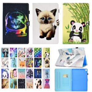 For iPad 7th / 8th Gen 10.2 Synthetic Leather Card Holder Flip Smart Case Cover