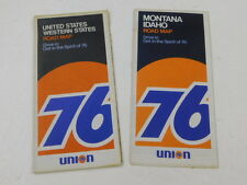 vtg UNION 76 Western States & Montana / Idaho ROAD MAP 1972 Gas & Oil Company
