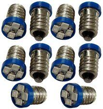 10x ampoules E10 4LED SMD 12V lumière bleue
