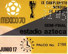 Ticket Länderspiel s/f Italien Deutschland 4-3 WM 1970 Mexico Jahrhundertspiel