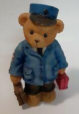 Cherished Teddies Lloyd Ct003 Train Railway Conductor Teddy Bear Figurine Enesco