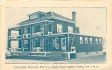 Beauceville PQ Art Deco Porches on Old Building of Cafe Gerard~c1950 Postcard