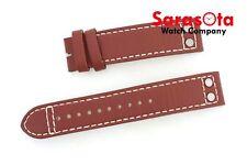 Seiko Genuine Calf Leather 20mm Brown Stitched Wristwatch Band
