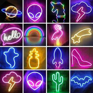 Neon Sign Light LED Wall Lights Art Decor Night Light for Kids Bedroom Bar Party