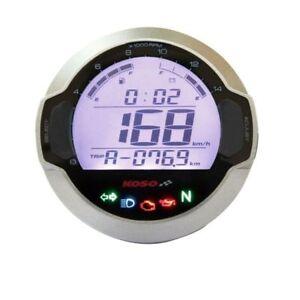 Compteur digital LCD mutlifonctions KOSO DL-03S GP Style rond universel Moto