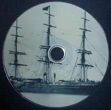 Vintage Naval Sailing Ships Boats Clippers Vessels 35 Vintage Old Books on DVD