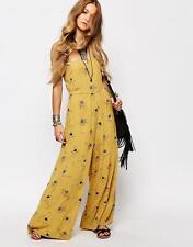 NWT Free People Aster Off Shoulder Smocked Floral Dress Jumpsuit 0 2 XS
