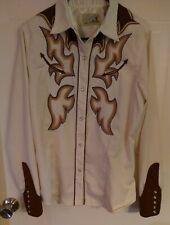 VTG Roper Denver, Colorado Western Embroidered Cowgirl Rockabilly Shirt XL Snap