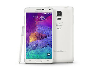 Samsung Galaxy Note 4   Grade: B-   AT&T   White Frost   32 GB   5.7 in Screen