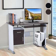 Homcom bureau informatique table D'ordinateur Brun-noir et Blanc 19