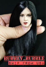 1/6 American Female Head Sculpt Black Hair For Hot Toys PHICEN SHIP FROM USA