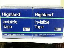 """New listing 12 Highland Invisible Permanent Mending Tape 6200 3/4"""" x 2592"""" 72 Yd"""