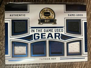 PATRICK ROY 2020-21 Leaf In The Game Used Authentic Game-Used Gear SP #9/30