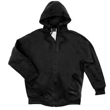Men's Hooded Sweatshirt Waffle Knit Thermal Lined Zipper Front