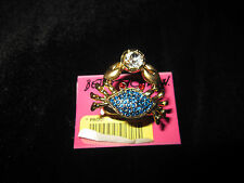 Betsey Johnson under the sea crab stretch ring size 7