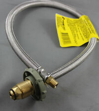 LPG Braided Gas Hose Pigtail For Caravan Hand Wheel POL 1/4MBSP INV FLARE 450mm