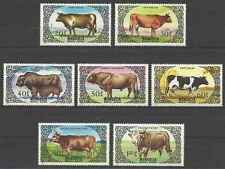 Timbres Animaux Vaches Mongolie 1342/8 ** lot 19733
