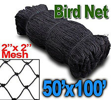 "New 100ftX50ft Anti Bird Poultry Chicken Game Fish Game Netting 2"" Mesh Hole 468"