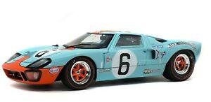 SOLIDO DIECAST 1/18 GULF FORD GT40 MK1 #6 WINNER LE MANS J.ICKX & J.OLIVER 1969