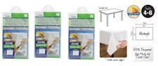 Transparent Plastic Tablecloth Cover Protector PVC Clear 132x178cm