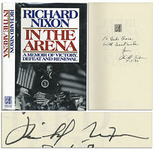 Richard Nixon ''In the Arena'' Signed Book 1st Edition