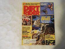 MAY 1986 DIRT RIDER MAGAZINE,SUZUKI RM250G VS YAMAHA YZ250S,HUSKY 400 ENDURO,AMA