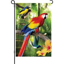 "Birds in Paradise Parrot Garden size (12"" x 18"" Approx) Flag BCPR 51291"