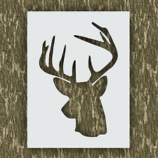 Rustic Deer head stencil buck hunting cabin lodge kit airbrush paint animal