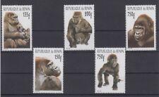Benin 2001 Affen Gorilla monkey mono postfrisch seltene Ausgabe