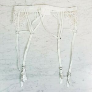 BRAS N THINGS  | Womens Tabitha Ivory Suspender NEW [ Size S or AU 10 / US 6 ]