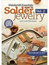 How to Solder Jewelry Lexi Erickson Vol. 2/ 2 DVD set Metalsmith Essentials