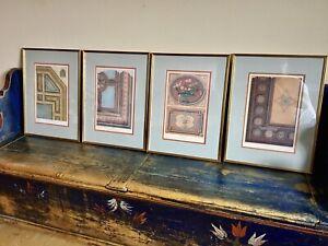 4 x Large Antique Prints of Architectural Details from Paris Hotels, Lemercier