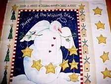 Daisy Kingdom Christmas Snowman Fabric Panel Keeper of the wishing star diy