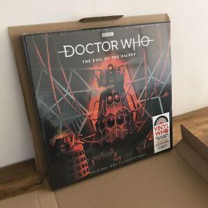 Doctor Who The Evil of The Daleks 4LP Ltd Red Vinyl New SEALED Dr Who
