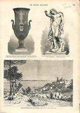 Paris Vase de Sèvres Opéra Garnier Exposition Manufacture Nationale GRAVURE 1874