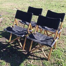 SERGIO ASTI 4 sedie pieghevoli NAVY ZANOTTA vintage chairs chair rare midcentury