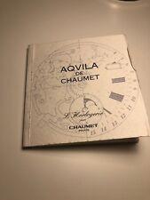 Vintage Aqvila De Chaumet Watch warranty Guarantee booklet