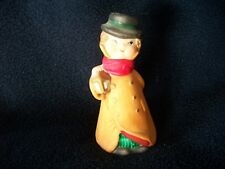 Vintage Painted Christmas Caroler Bell with Lantern Cute