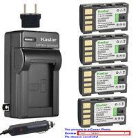Kastar Battery AC Charger for JVC BN-VF808 BN-VF808U & JVC GR-D875 Camcorder