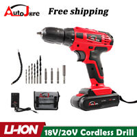 20-Volt Drill 2 Speed Electric Cordless Drill / Driver with Bits Set & Battery