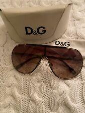 D&G Dolce Gabbana Gold Tone Aviators Sunglasses